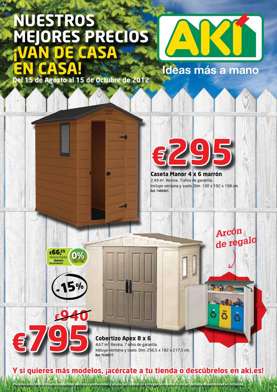 Cat logo aki casetas y cobertizos 2012 by milyuncatalogos for Casetas de resina aki