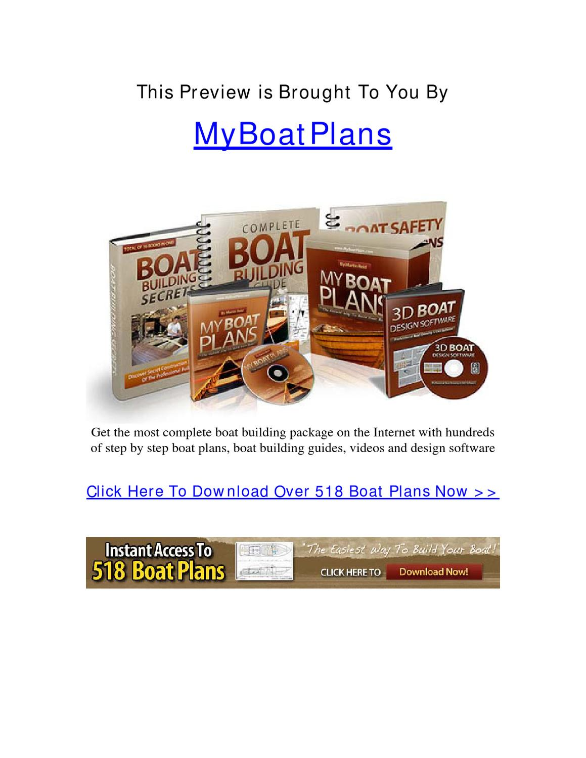 My Boat Plans Build Your Own Boat By Clif Haley Issuu