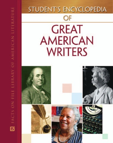 Encyclopedia of great american writers vol i by daniela guerra issuu page 1 fandeluxe Choice Image