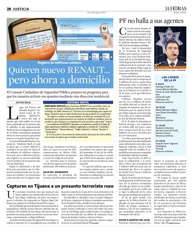 Agosto 20 2012 By Información Integral 24 7 Sapi De C V
