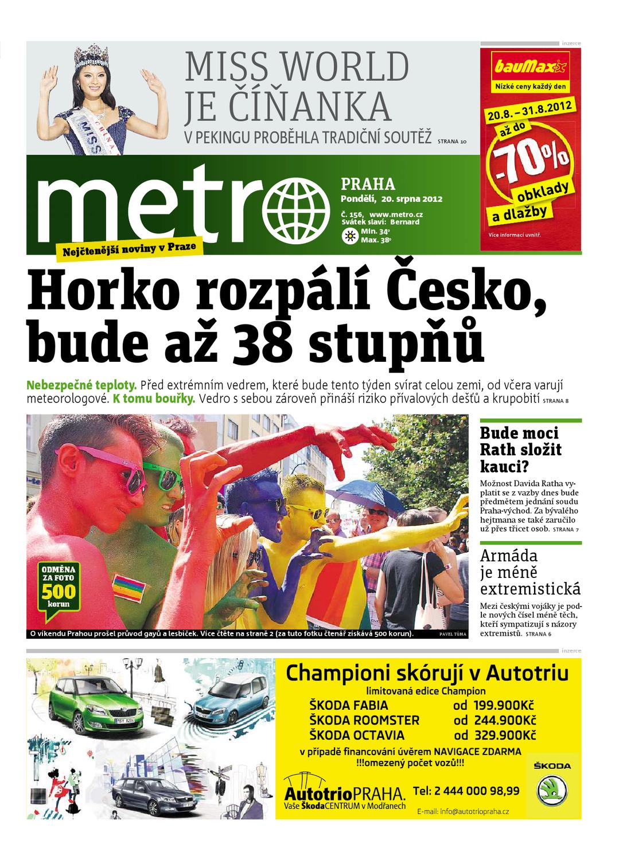 32a1494e64c deník METRO 20.8.2012 by METRO ČR a.s. - issuu