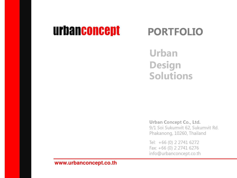 Urban Concept Portfolio By Urban Concept Issuu