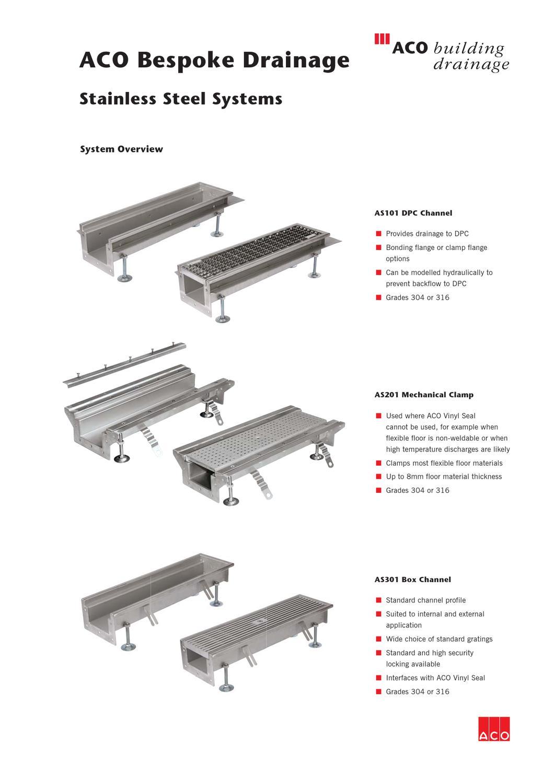 aco bespoke data sheet1 by aco building drainage issuu. Black Bedroom Furniture Sets. Home Design Ideas