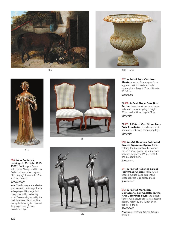 Chaise Style Art Nouveau september 15th & 16th important estates auctionneal
