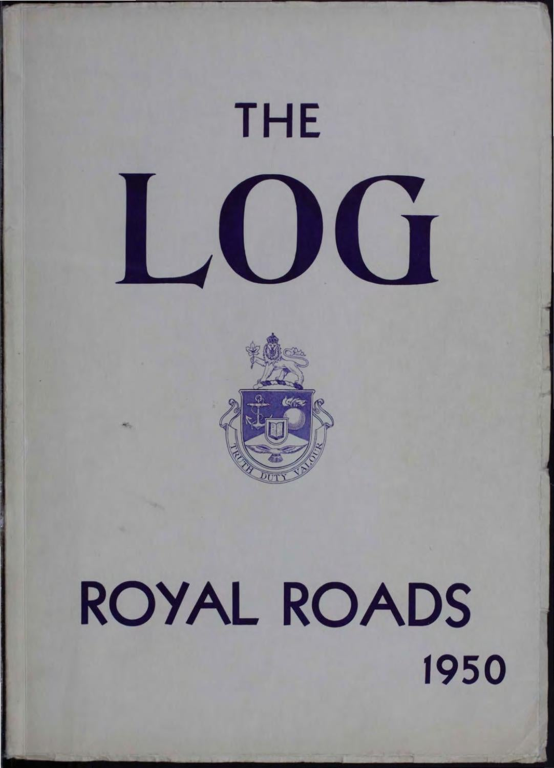 1950 Log Canadian Services College Royal Roads by Royal Roads University  Archives - issuu
