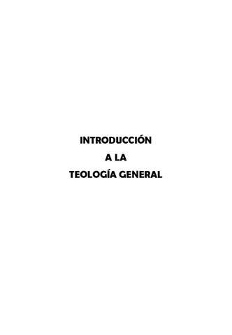 Introducción a la Teología General by pabloodavid pabloodavid - issuu