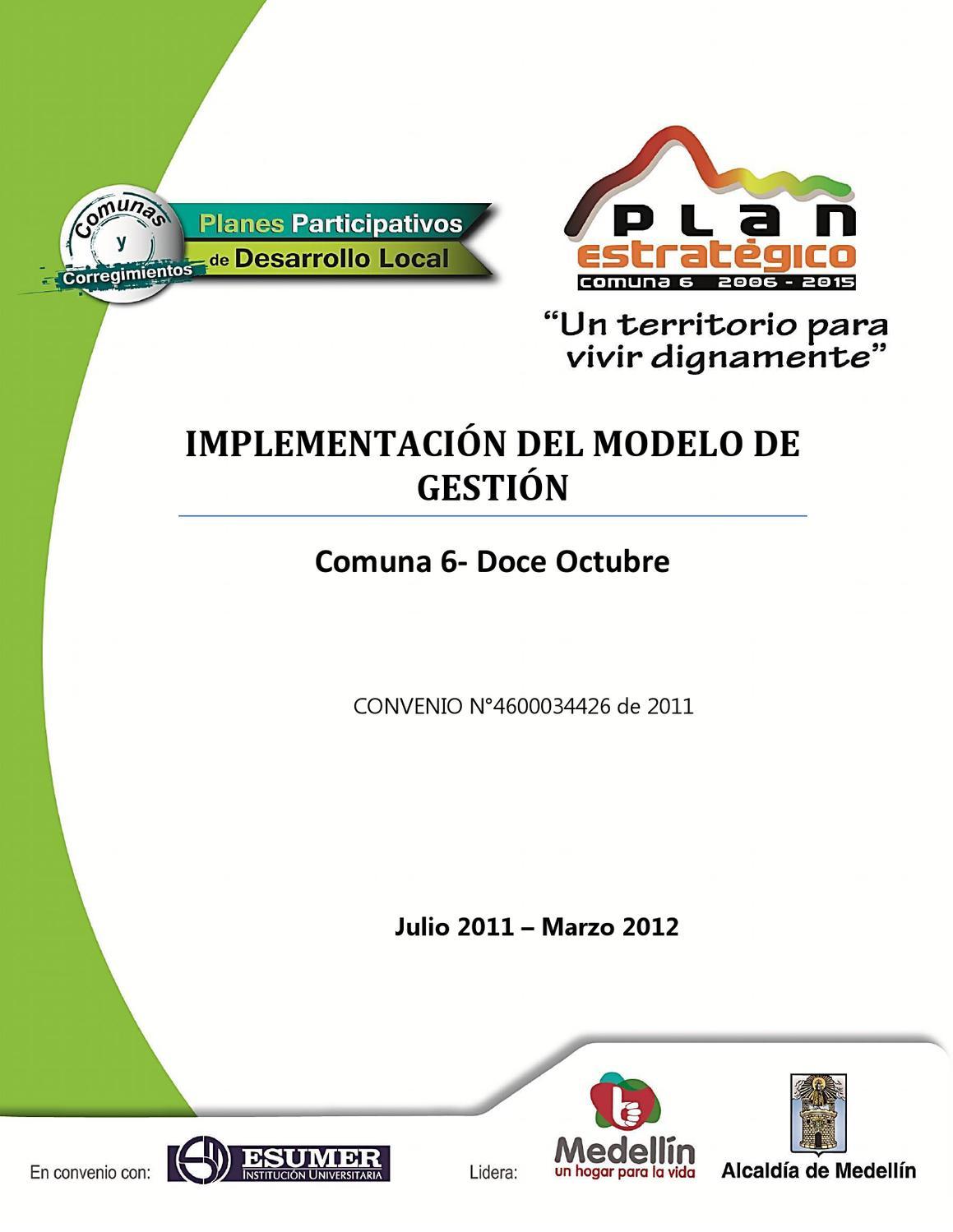 IMPLEMENTACIÓN DEL MODELO DE GESTIÓN by Veeduría Ciudadana al Plan ...