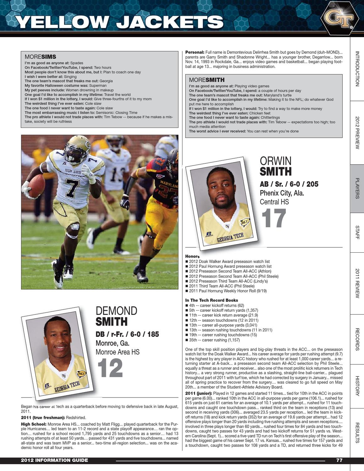 2012 Georgia Tech Football Info Guide by GTAthletics - issuu
