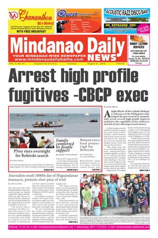 MINDANAO DAILY NEWS AUGUST 21,2012 by Mindanao Daliy - issuu