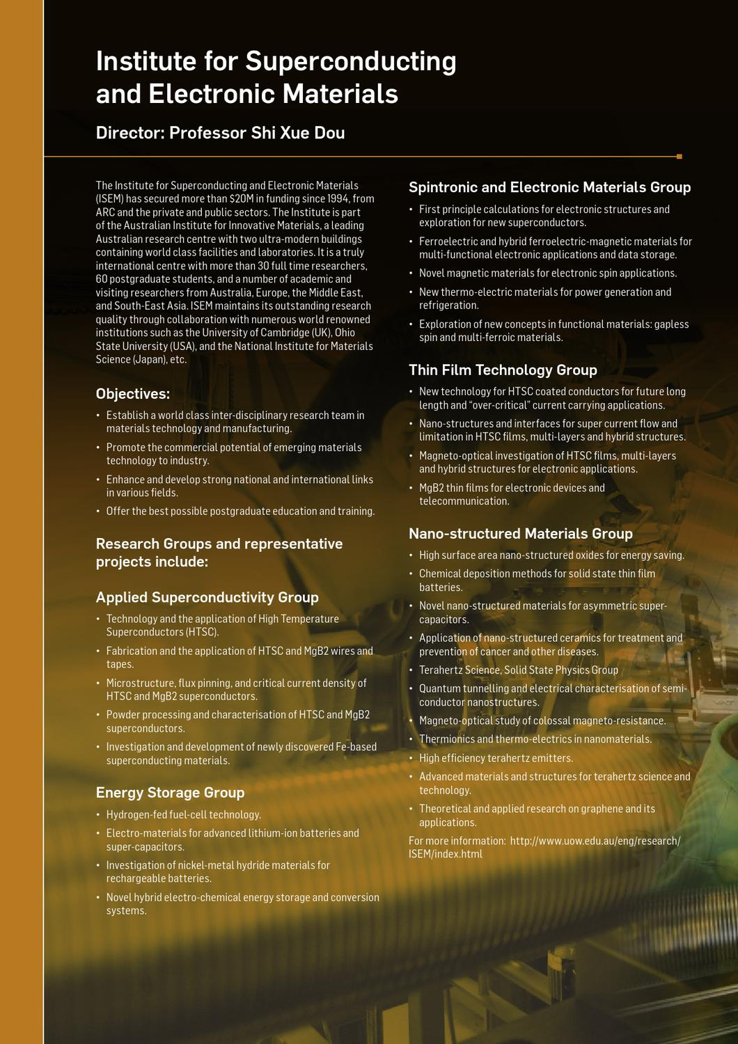 Create the Future: Research in Engineering and Physics by University
