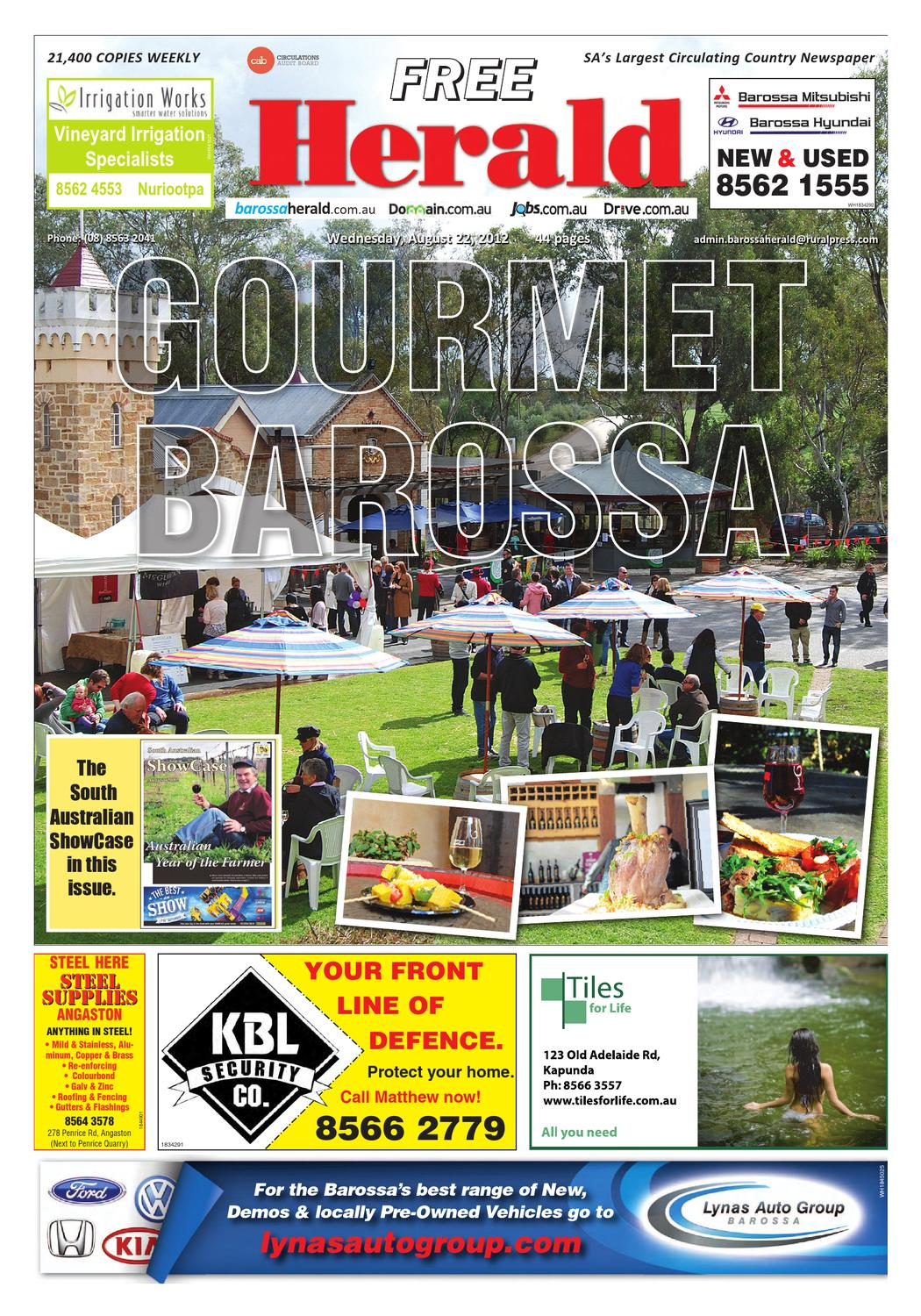 August 22nd Edition by Barossa Herald - issuu