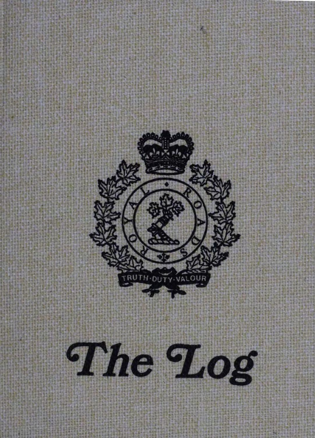 1982 Log Royal Roads Military College by Royal Roads ...