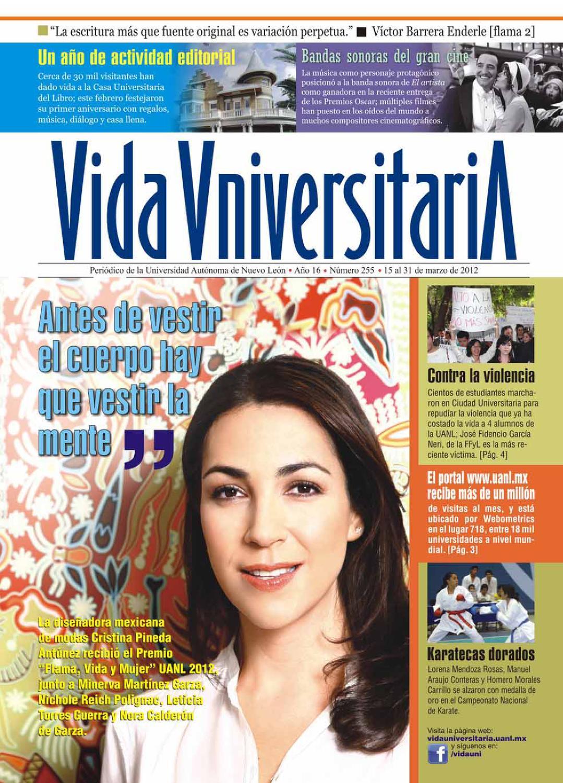 Vida Universitaria UANL No. 255 by Vida Universitaria - issuu 4117fdf55da5e