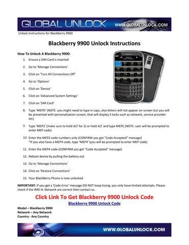 How+To+Unlock+Blackberry+9900 by Global Unlock - issuu