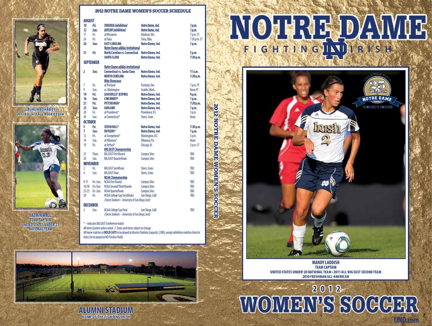 2012 Notre Dame Womenu0027s Soccer Media Guide By Chris Masters   Issuu