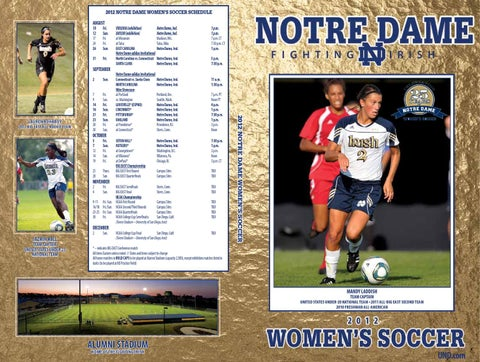 a618b9dae17 2012 Notre Dame Women s Soccer Media Guide by Chris Masters - issuu