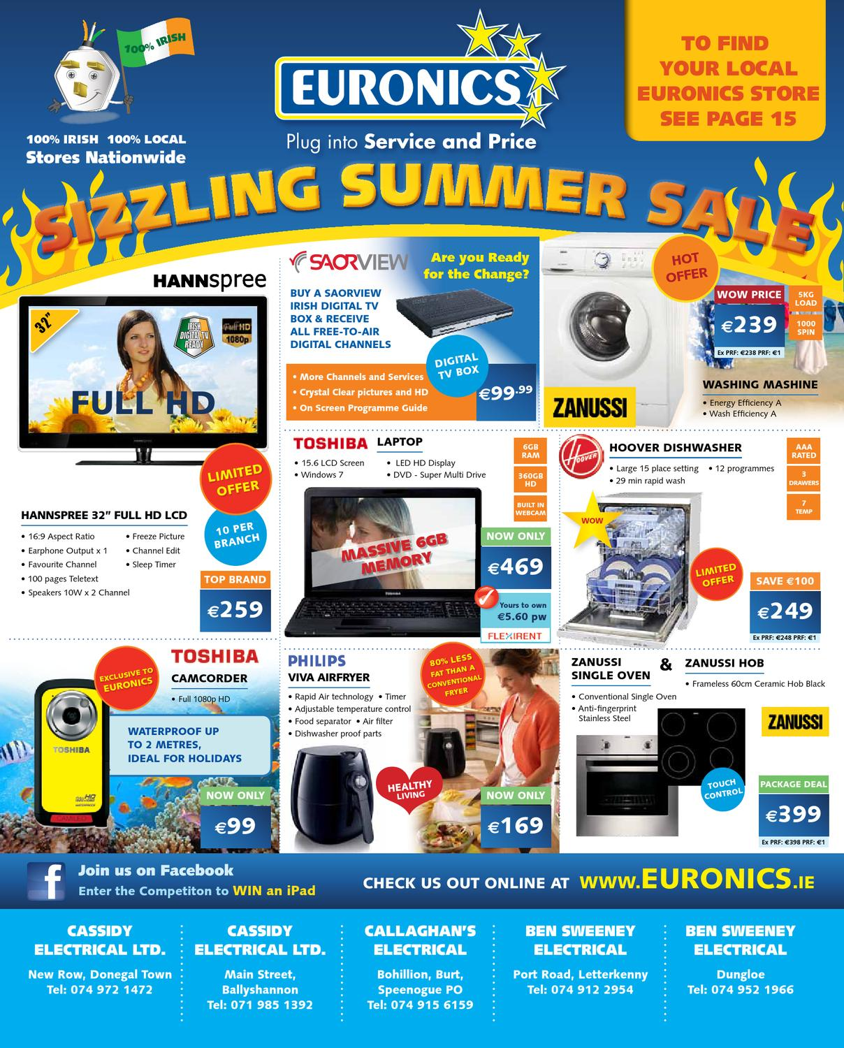 Companies And Their Logos Hannspree: Euronics June 2011 Mailer By Adsmart