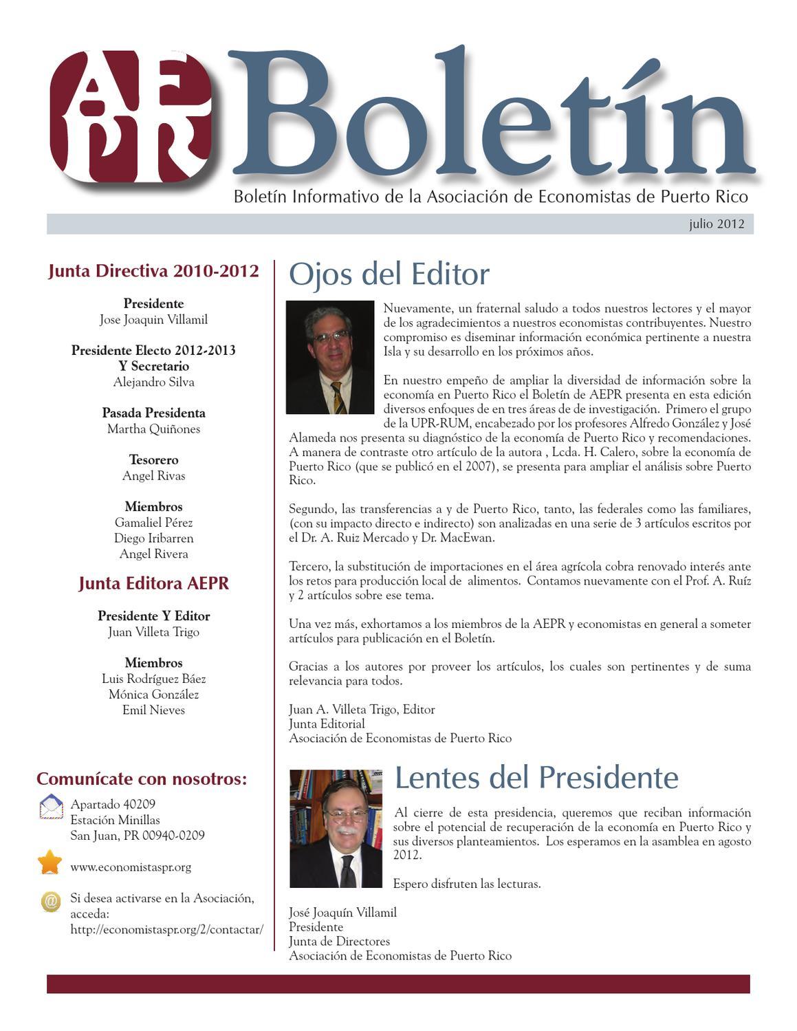 Boletin de la Asociación de Economistas de PR by Puerto Rico Chamber ...