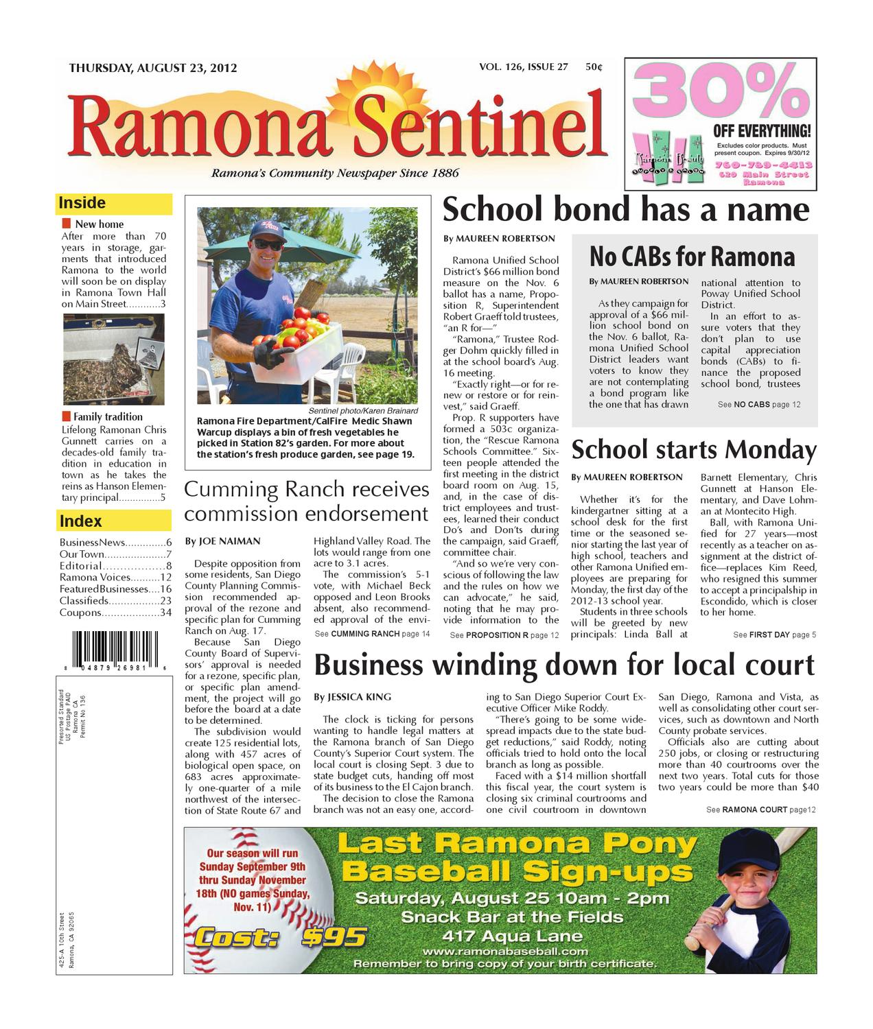 8 23 2012ramona sentinel by mainstreet media issuu aiddatafo Images