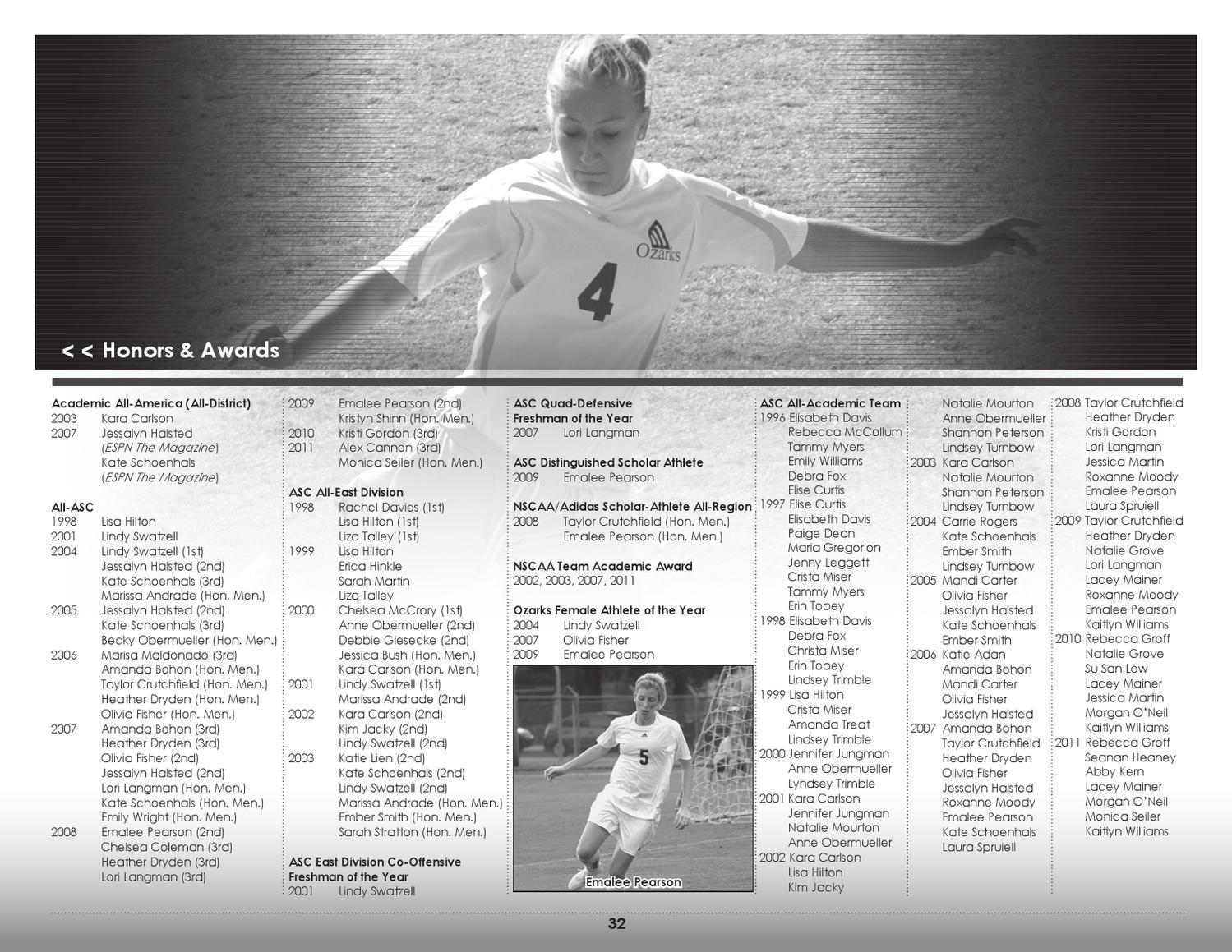 2012 University of the Ozarks Women's Soccer Media Guide by