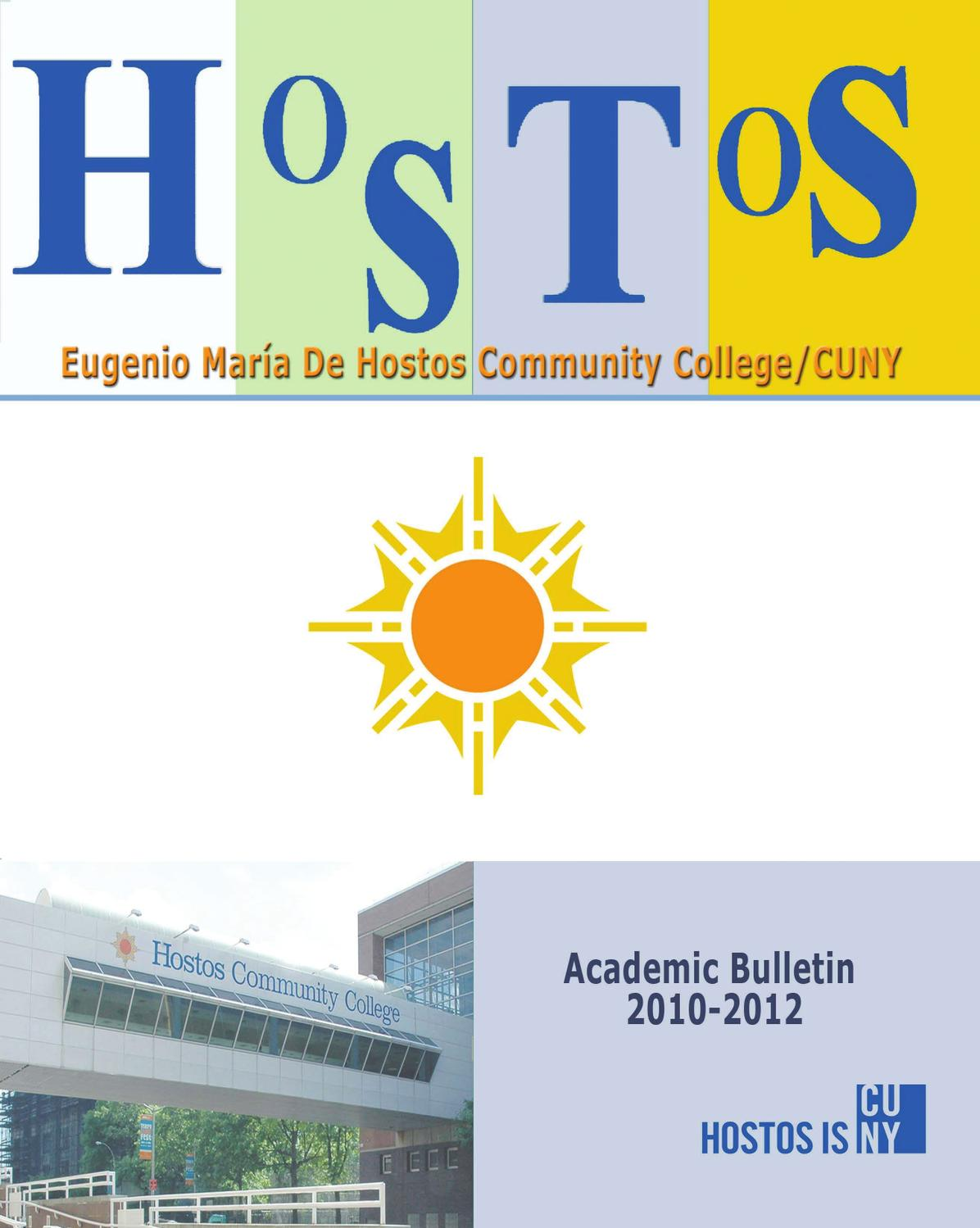 2010 - 2012 Hostos Catalog by Hostos Community College - issuu