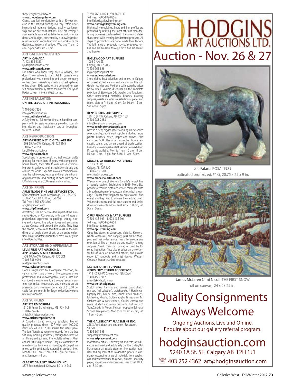 Galleries West Fall/Winter 2012 by Galleries West - issuu