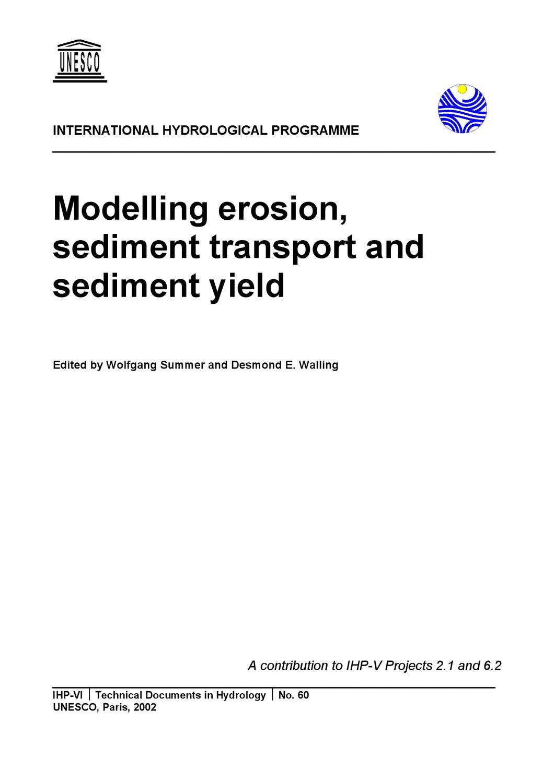 Sol Argileux Avantages Inconvénients modelling erosion, sediment transport and sediment yield