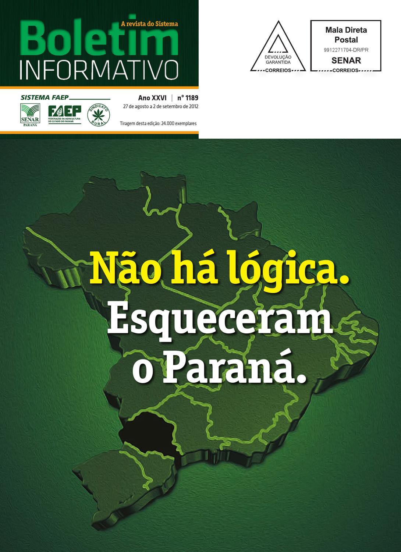 Boletim Informativo Edição 1189 by Sistema FAEP - issuu 0ba3db3955