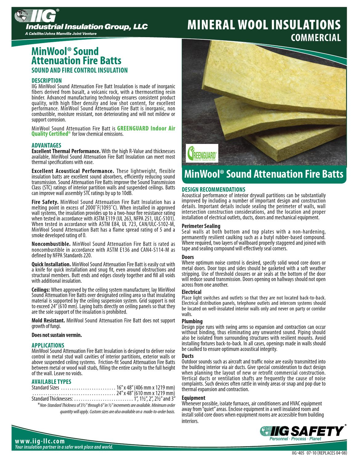 Mineral wool iig safb data sheet by macopa issuu for Mineral wool insulation health and safety