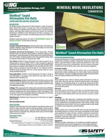 Mineral Wool Iig Safb Data Sheet By Macopa Issuu