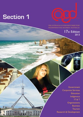 The Australian Government Directory (Section 1) by UpFront Australia ... a2fcb0c9c