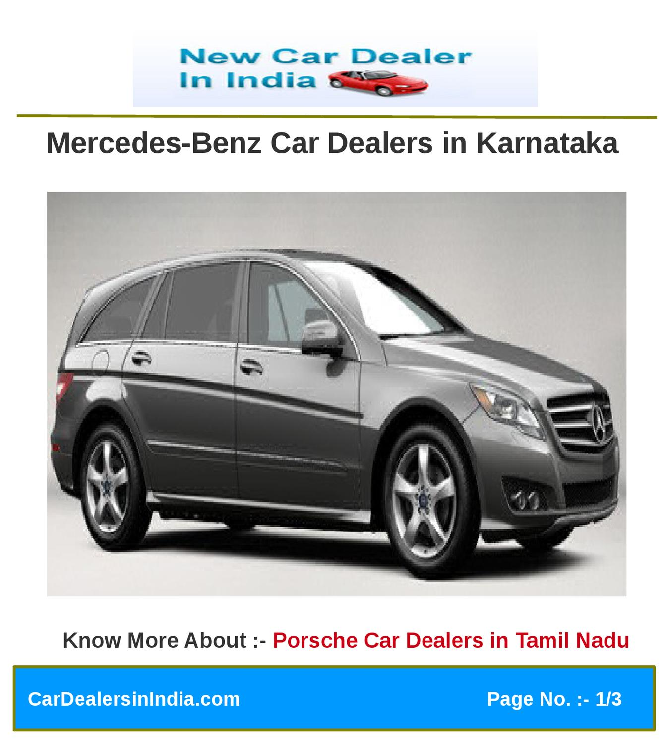 Mercedes benz car dealers in karnataka by microsite team for Mercedes benz dealers in germany