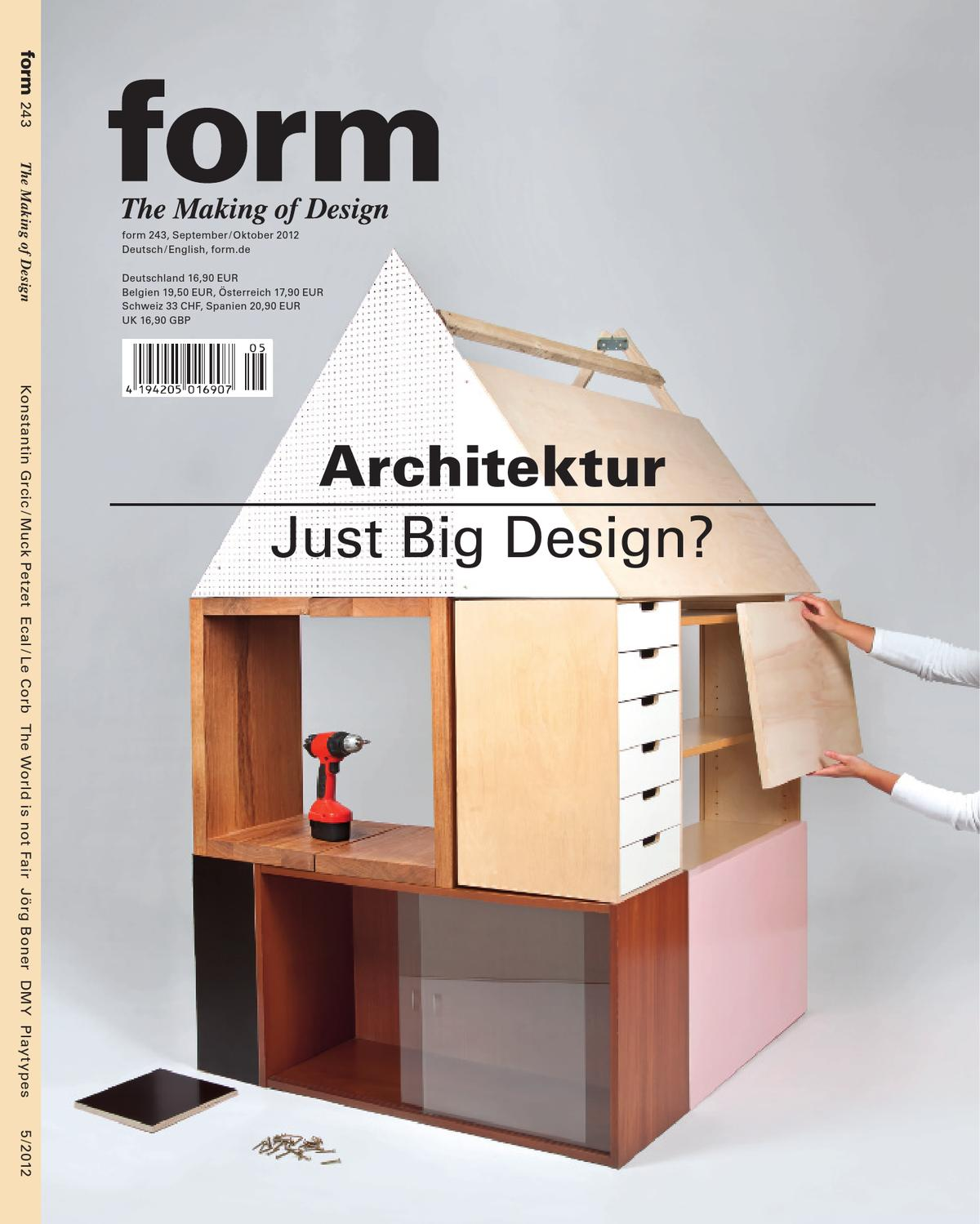 Form 243 architektur just big design by verlag form for Architektur magazin