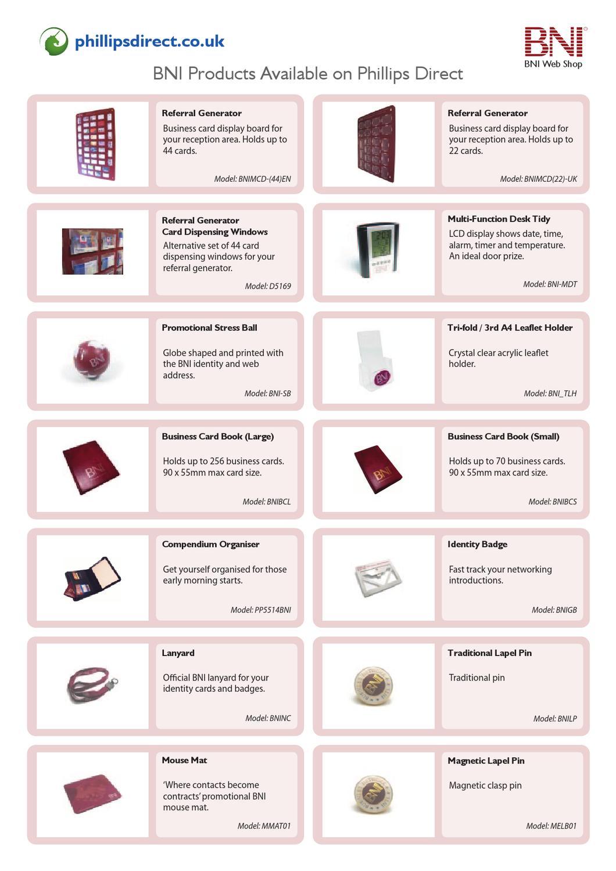 BNI Products on Phillips Direct by Richard Garratt - issuu