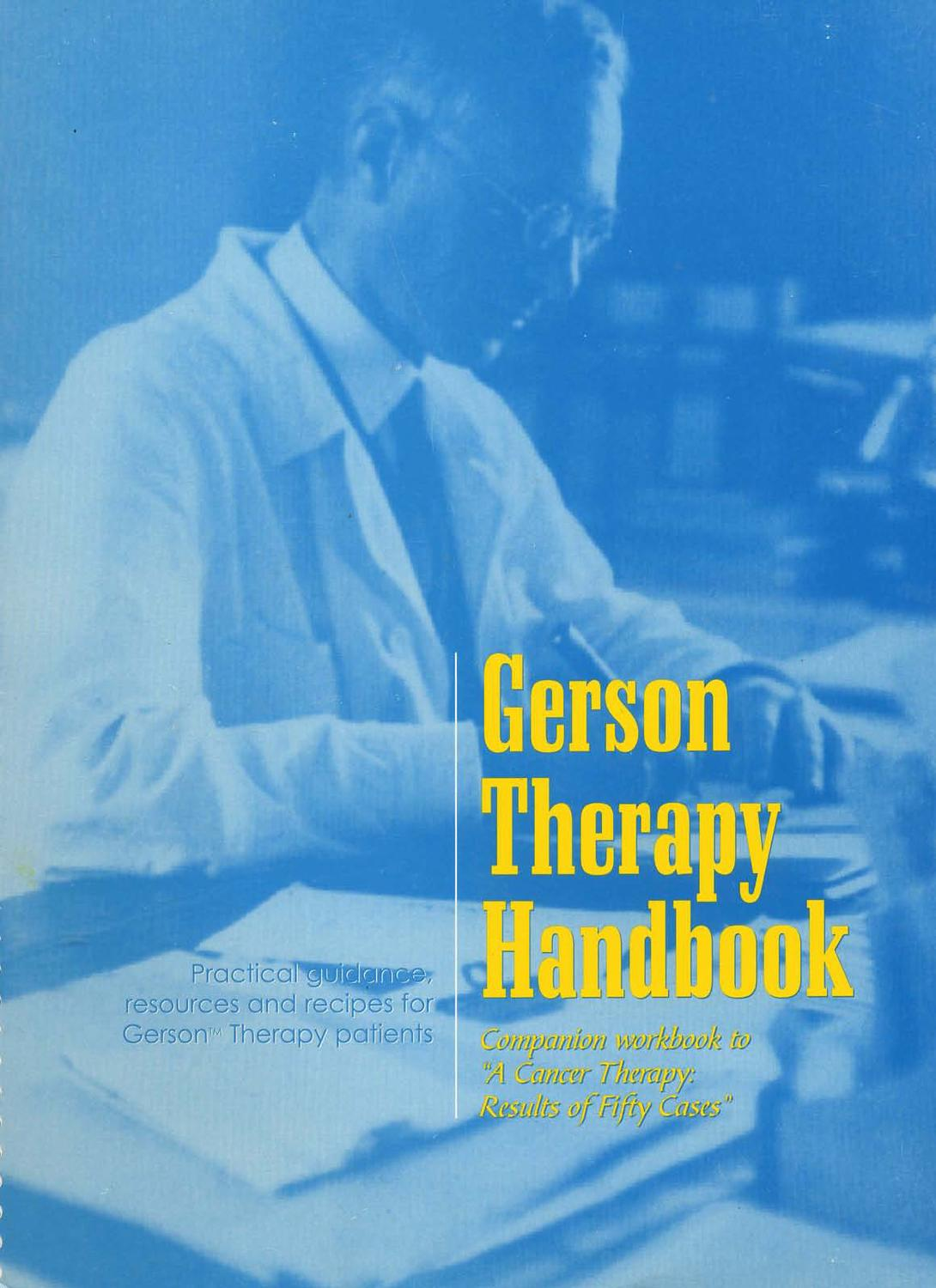 94642266 Gerson Therapy Handbook 5th Revision Pdf 1 By Cheri Burns Issuu