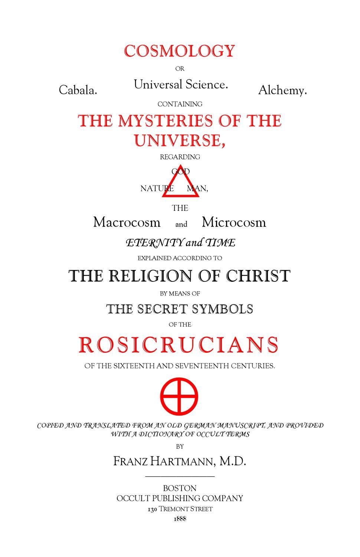 Secret symbols of the Rosecrucians by Cheri Burns - issuu