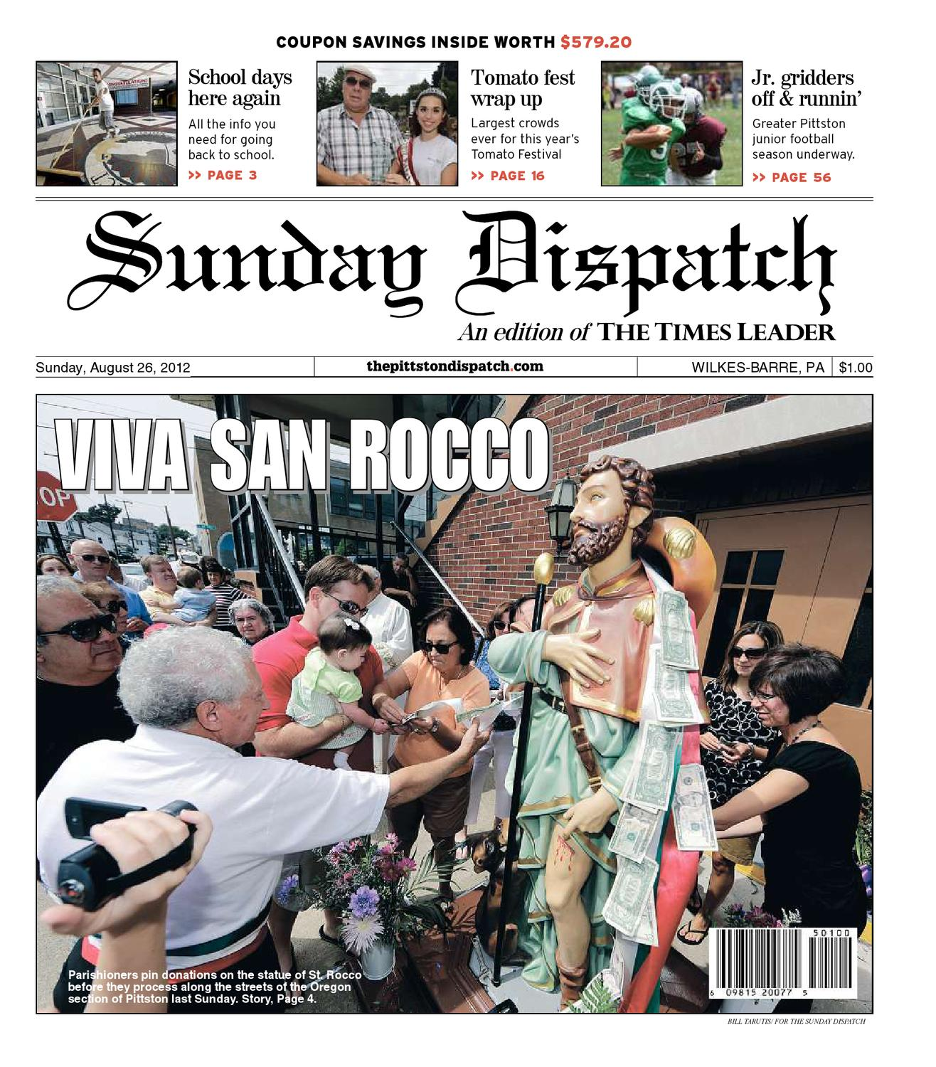 The Pittston Dispatch 08 26 2012 By The Wilkes Barre Publishing