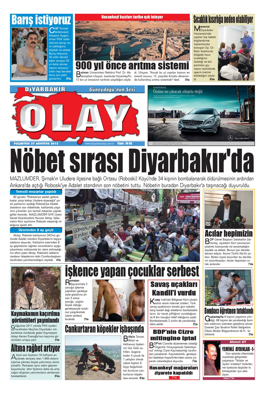 27 08 2012 Gazete Sayfalari By Diyarbakir Olaygazetesi Issuu