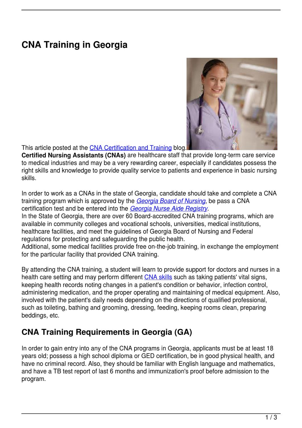 Cna training in georgia by becky vallejo issuu 1betcityfo Choice Image
