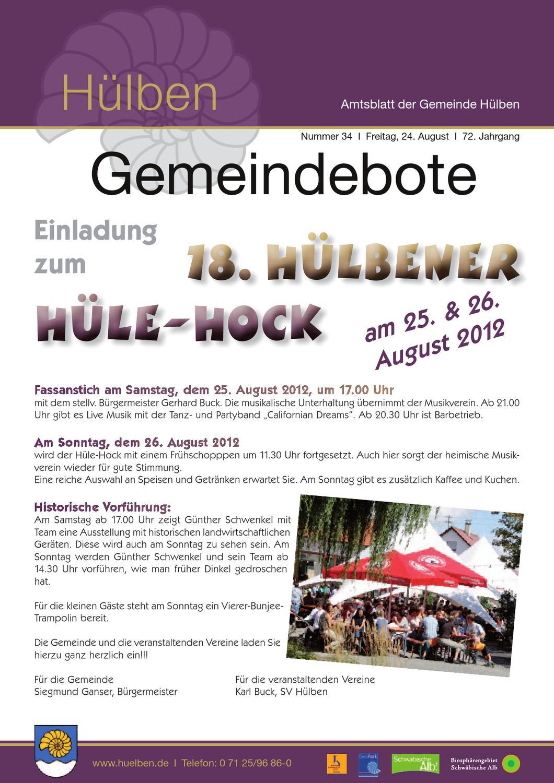Gemeindebote der Gemeinde Hülben by buero maichle-schmitt - issuu
