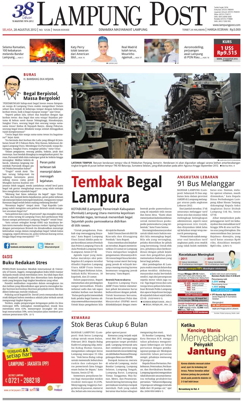 Lampungpost Edisi 28 Agustus 2012 By Lampung Post Issuu Rkb Tegal Produk Ukm Bumn Emping Ubi