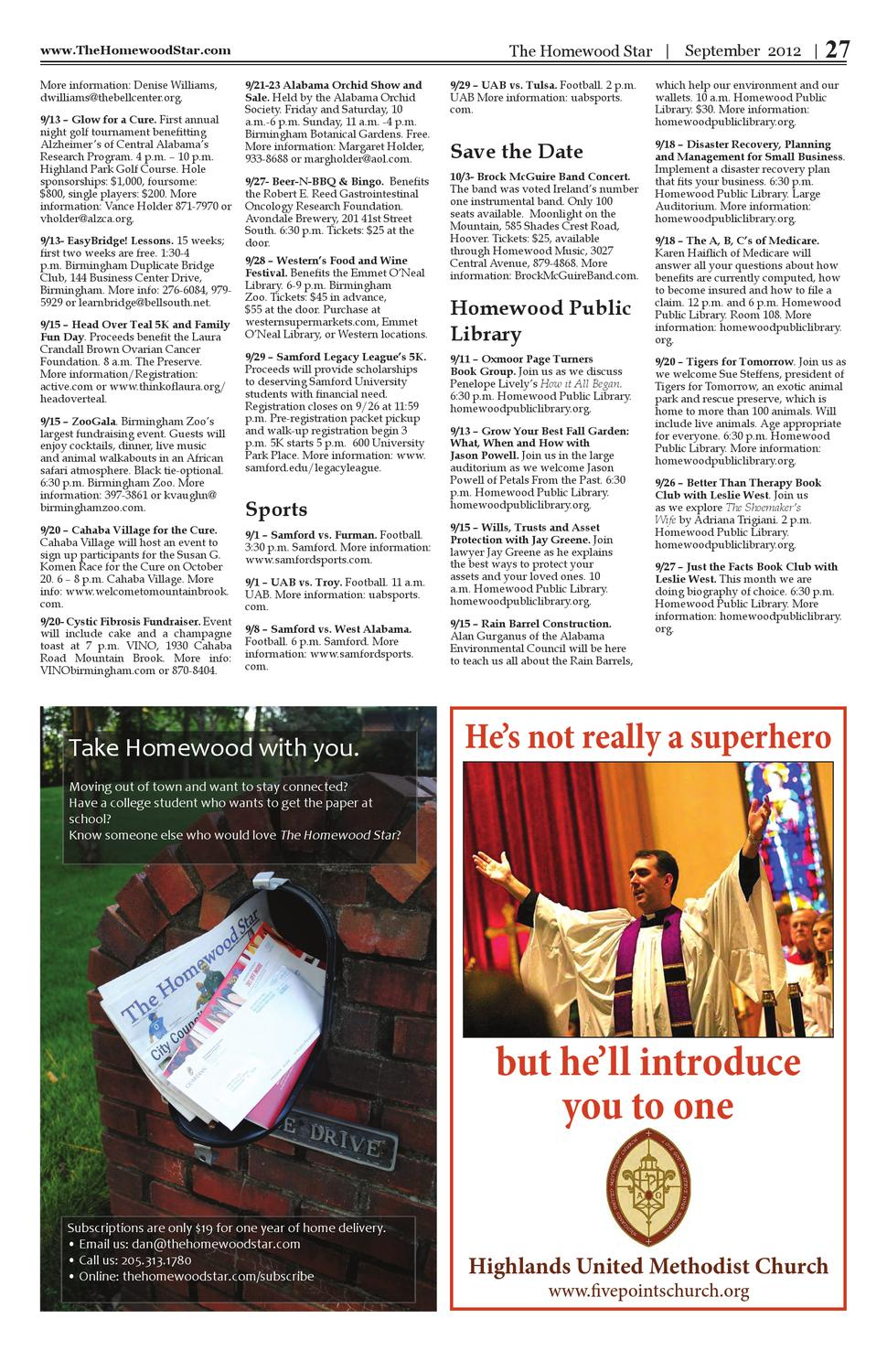 The Homewood Star September 2012 by Starnes Media - issuu