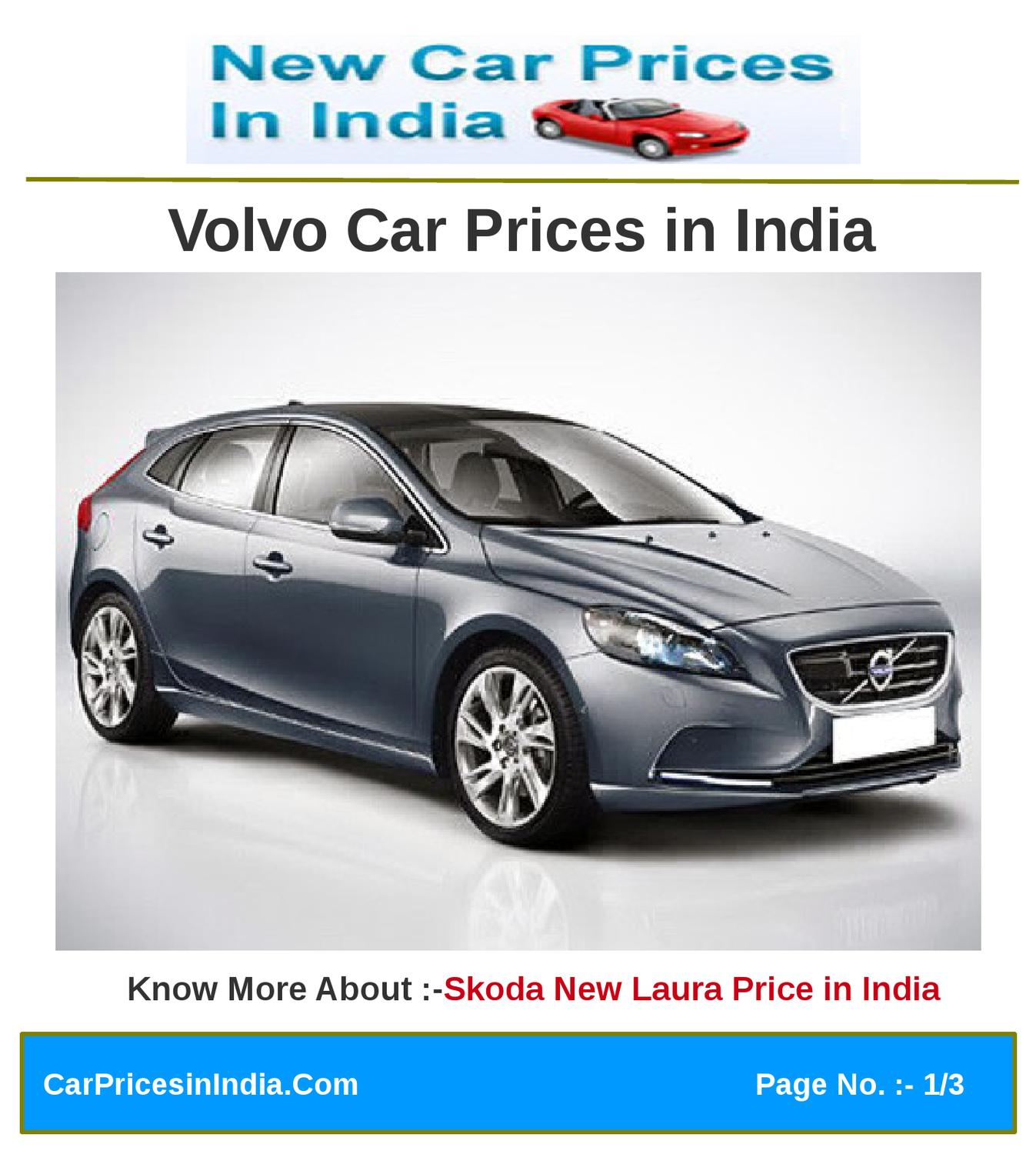 Volvo Pricing: Volvo Car Prices In India By Microsite Team
