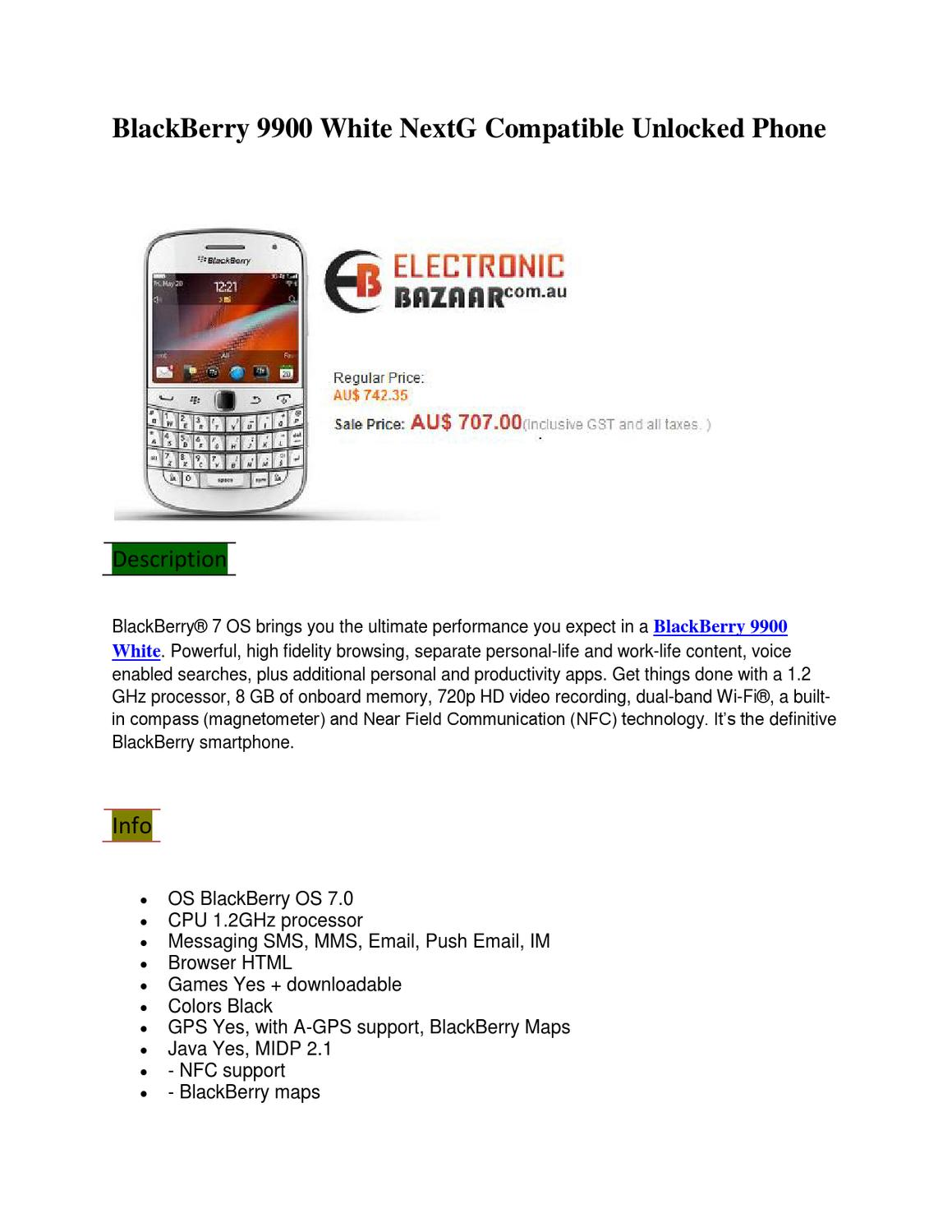 BlackBerry 9900 White by electronic bazaar - issuu