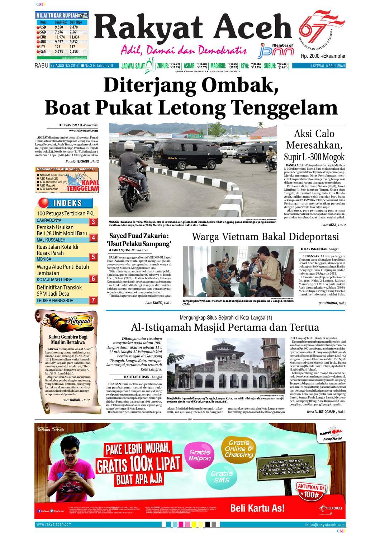 Rakyat Aceh Metro Edisi 29 Agustus 2012 By Rakyataceh Kopibubuk Robusta Toko Rezeki Akumandiri Malang Metroaceh Issuu