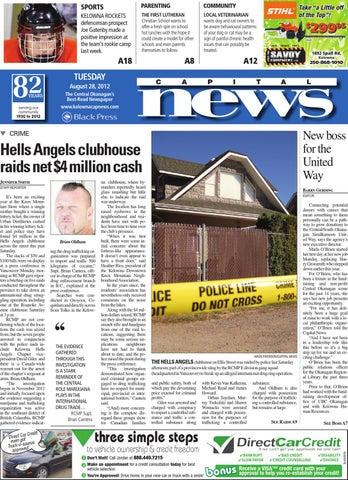 Kelowna Capital News, August 28, 2012 by Black Press Media