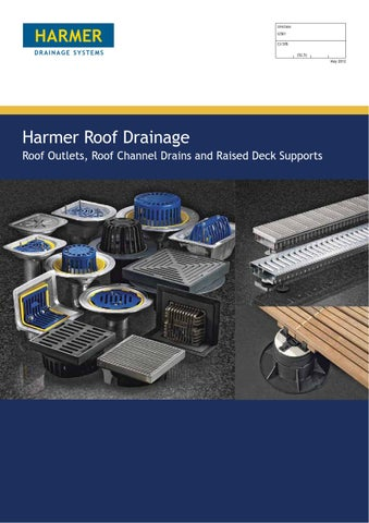 Harmer Roof Outlets Technical Brochure By Alumasc Exterior