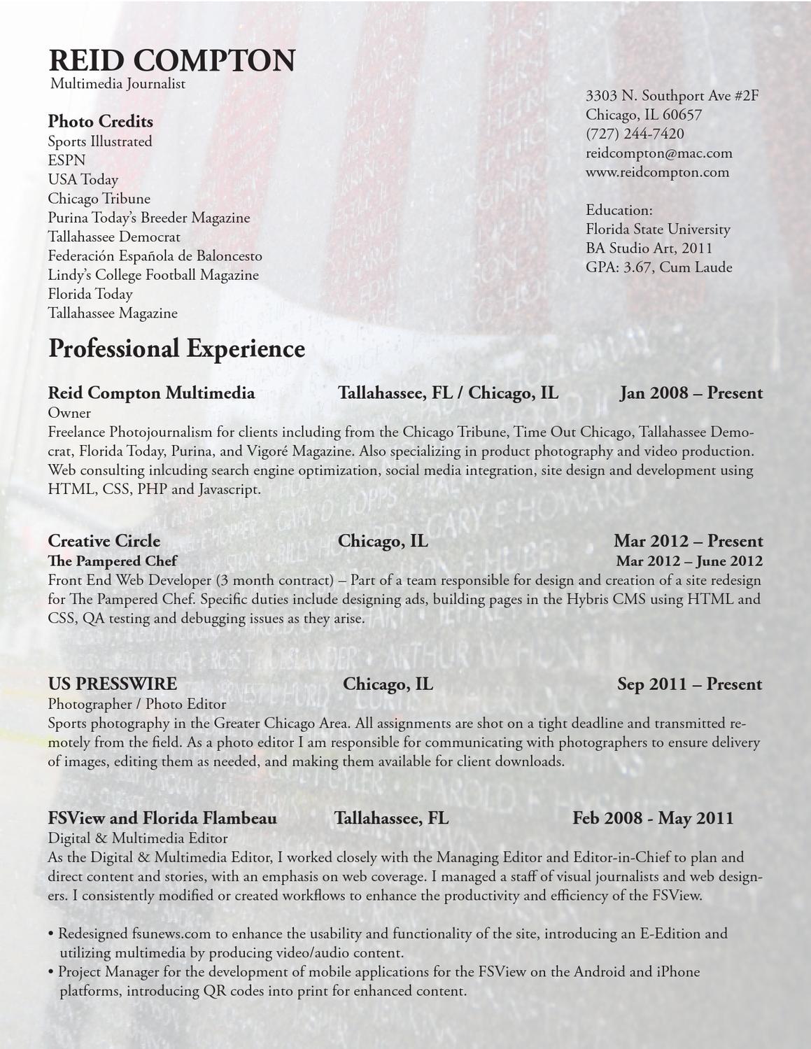 Reid Compton Résumé by Reid Compton - issuu