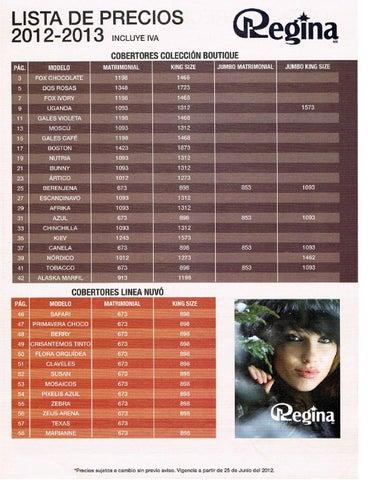 Lista de precios catalogo cobertores regina by www for Cobertores para piscinas precios