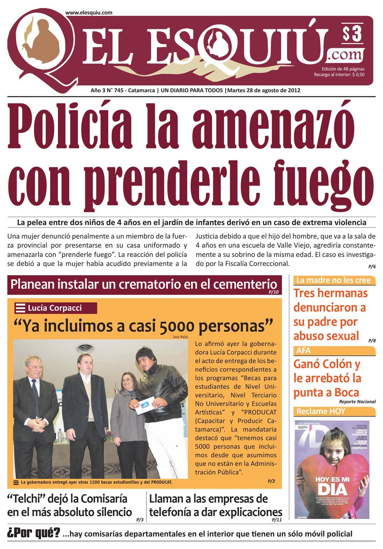 El Esquiu Com Martes 28 De Agosto De 2012 By Editorial El Esqui  # Muebles Tamara Fox Rancagua